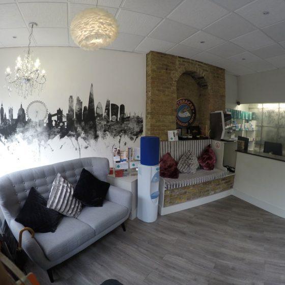 Reception at Blythe Road Dental