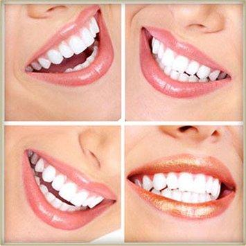 4 x images of white smiling teeth